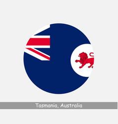 Tasmania australia round circle flag vector