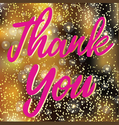 thank you text sign isolated on gradient vector image