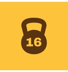 The dumbbell icon weight symbol flat vector