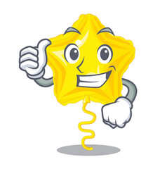 Thumbs up stars ballon isolated in the character vector