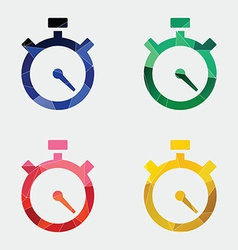 timer icon Abstract Triangle vector image