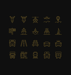 Transportation icons set part iii vector