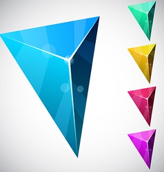 Triangular vibrant pyramid vector image