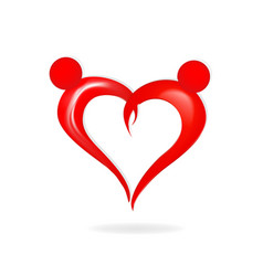 Valentine abstract heart figure vector