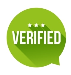 Verified badge speech bubble vector image