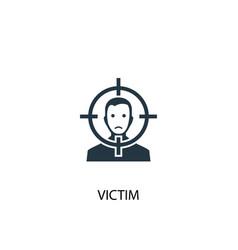 Victim icon simple element victim vector