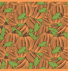 Vintage pumpkin seamless pattern vector
