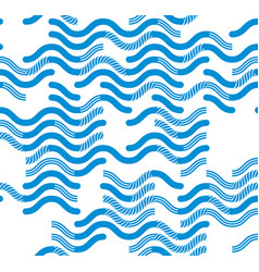 Wavy technical lines seamless pattern abstract vector