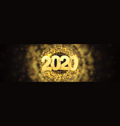 web banner happy new year 2020 vector image