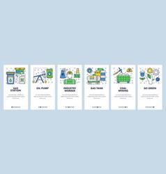 web site onboarding screens power energy industry vector image