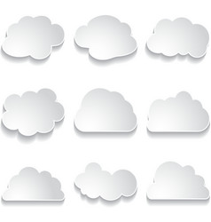 white paper clouds vector image
