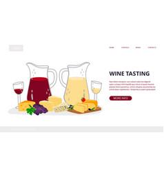 Wine tasting landing page vector