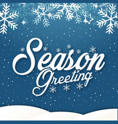 Winter background season greeting image vector