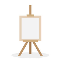 wooden easel with blank space vector image