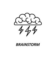 brain brainstorming idea creativity vector image vector image