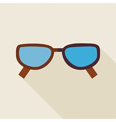 Flat Fashion Accessory Glasses with long Shadow vector image vector image