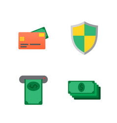 money flat icon set for flat style vector image vector image