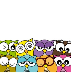 Owls icons vector image vector image