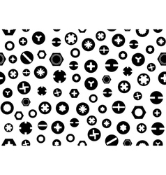 Seamless screw heads background vector image vector image