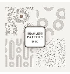 Set of seamless patterns with dotted and vector image vector image