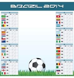 World Soccer Championship Groups vector image