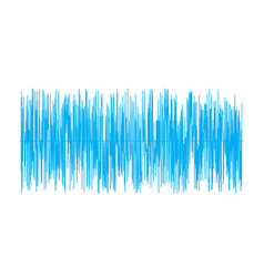 blue sound wave on white background sound wave vector image