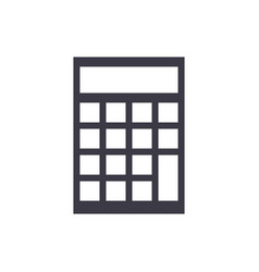 calculator line icon sign vector image vector image