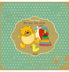 Old Toys on Vintage Background vector image vector image