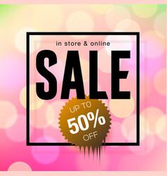 sale banner template design pink blurred vector image vector image