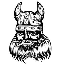 viking in helmet vector image vector image
