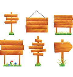wooden signs and boards vector image