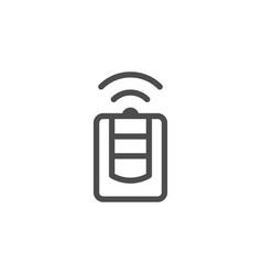 car alarm keychain line icon vector image