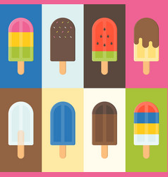 colorful popsicle icon vector image vector image