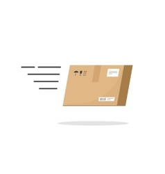 Fast delivery box service icon isolated on vector image vector image