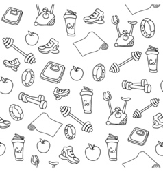 Fitness seamless pattern vector image