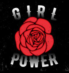 Girl power t shirt print vector