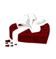 heart gift box vector image vector image