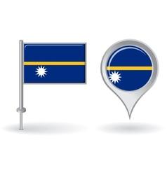 Nauru pin icon and map pointer flag vector image vector image