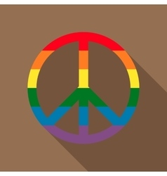 Pacific symbol in rainbow colors icon flat style vector image