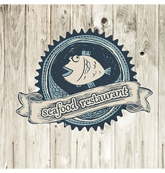 seafood rest vector image vector image