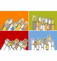 voting hands vector image vector image