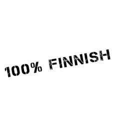 100 percent Finnish rubber stamp vector