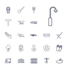 22 garden icons vector