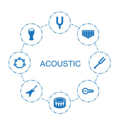 8 acoustic icons vector