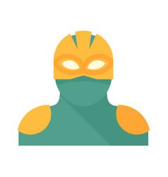 Alien superhero icon flat isolated vector