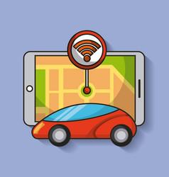 Autonomous car with pointer sensor map navigation vector