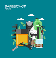 barbershop services flat style design vector image