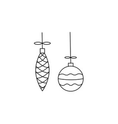 baubles icon vector image