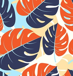 Beautiful seamless tropical jungle floral graphic vector image