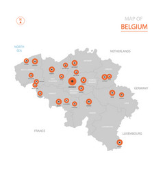 belgium map with administrative divisions vector image